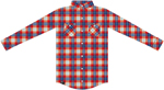 Factory Effex Official Licensed HONDA Long Sleeve Plaid Flannel Shirt (Red Plaid)