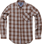 ALPINESTARS 2017 PROCESS Long Sleeve Plaid Shirt (Brown)