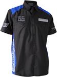 Throttle Threads Men's PARTS UNLIMITED TEAM Short-Sleeve Shop Shirt (Black/Royal Blue)