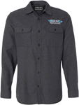 Throttle Threads Men's DRAG SPECIALTIES Solid Flannel Shirt (Charcoal)