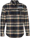 Throttle Threads Men's DRAG SPECIALTIES Plaid Flannel Shirt (Khaki)