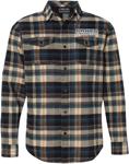 Throttle Threads Men's PARTS UNLIMITED Plaid Flannel Shirt (Khaki)