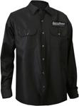 Throttle Threads Men's ORIGINALS Long Sleeve Shop Shirt (Black)