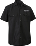 Throttle Threads Men's ORIGINALS Short-Sleeve Shop Shirt (Black)