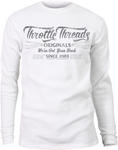 Throttle Threads Men's ORIGINALS Long Sleeve Thermal Shirt (White)
