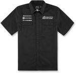 Icon Motosports KINGSLEY Button-Up Shop Shirt (Black)