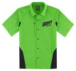 Icon Motosports OVERLORD Snap-Front Shop Shirt (Green)