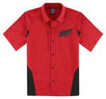 Icon Motosports OVERLORD Snap-Front Shop Shirt (Red)