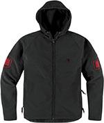 ICON 1000 Hoodlux Softshell Casual Jacket (Black)