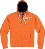 ICON Upper Slant Hoody / Sweatshirt, Zip-Up Hoodie (Orange)