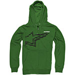 ALPINESTARS Plume Zip-Up Hoodie Sweatshirt (Green)
