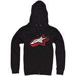 ALPINESTARS Zeerocks Zip-Up Hoodie Sweatshirt (Black)