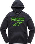 Alpinestars RIDE 2.0 Fleece Pullover Hoody Sweatshirt (Black/Green)