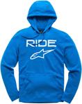 Alpinestars RIDE 2.0 Fleece Pullover Hoody Sweatshirt (Bright Blue/White)