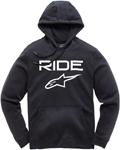 Alpinestars RIDE 2.0 Fleece Pullover Hoody Sweatshirt (Black/White)