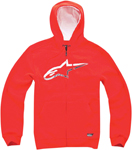 ALPINESTARS Chapman Zip-Up Sweatshirt Hoodie (Red)