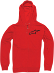 ALPINESTARS Ranking Zip-Up Sweatshirt Hoodie (Red)