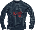 100% MX Motocross STENCIL Crewneck Sweatshirt (Heather Blue)