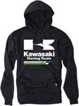 Factory Effex Official Licensed KAWASAKI Racing Pullover Hoodie Sweatshirt (Black)
