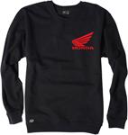 Factory Effex Official Licensed Men's HONDA Fleece Crew Sweatshirt (Black)