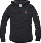 100% MX Motocross GRAVEL Lightweight Jersey Sweatshirt Hoody (Charcoal Heather)