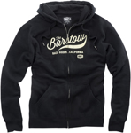 100% MX Motocross BARSTOW Zip-Up Sweatshirt Hoody (Black)