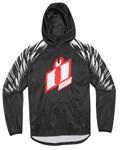 ICON LA MESA Polyester/Fleece Hoody Sweatshirt (Black)