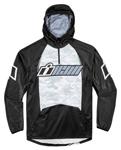 ICON SINGLE STACK Polyester/Fleece Hoody Sweatshirt (Black/Grey)