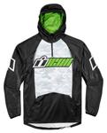 ICON SINGLE STACK Polyester/Fleece Hoody Sweatshirt (Black/Green)