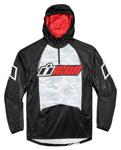 ICON SINGLE STACK Polyester/Fleece Hoody Sweatshirt (Black/Red)
