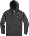 Icon Motosports NEO SLANT Hoody Sweatshirt (Grey)