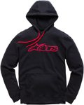 Alpinestars BLAZE Fleece Pullover Hoody Sweatshirt (Black/Red)