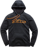 Alpinestars BLAZE Fleece Pullover Hoody Sweatshirt (Gray/Orange)