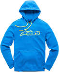 Alpinestars BLAZE Fleece Pullover Hoody Sweatshirt (Blue/Yellow)