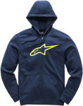 Alpinestars AGELESS II Fleece Zip-Up Hoody Sweatshirt (Navy/Yellow)