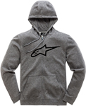 Alpinestars AGELESS II Fleece Zip-Up Hoody Sweatshirt (Gray Heather/Black)