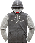 Alpinestars Mach 1 Fleece Zip-Up Hoody Sweatshirt (Gray)