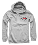 Thor MX Motocross Men's Namesake Zip-Up Hoody Sweatshirt (Heather Gray)