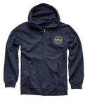 Thor MX Motocross Men's Hallman Traditions Zip-Up Hoody Sweatshirt (Navy Blue)