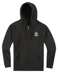 Icon Motosports ARC Fleece Zip-Up Hoody Sweatshirt (Black)