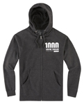Icon 1000 VERTIXAL Fleece Zip-Up Hoody Sweatshirt (Charcoal Grey)