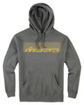 Icon Motosports RASTER Fleece Pullover Hoody Sweatshirt (Grey)