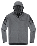 Icon Motosports OVERLORD Zip-Up Lightweight Shell Hoody Jacket (Charcoal Grey)