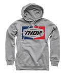 Thor MX Motocross Men's Service Pullover Hoodie Sweatshirt (Heather Gray)