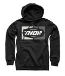 Thor MX Motocross Men's Service Pullover Hoodie Sweatshirt (Black)