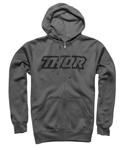 Thor MX Motocross Men's Clutch Zip-Up Hoodie Sweatshirt (Gray)
