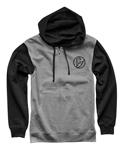 Thor MX Motocross Men's Iconic Zip-Up Hoodie Sweatshirt (Black)