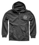 Thor-Hallman Traditions Zip-Up Hoodie Sweatshirt (Charcoal Gray)