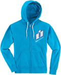 Icon Motosports Women's WILD CHILD Zip-Up Hoody Sweatshirt (Turquoise Blue)