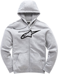 Alpinestars Women's AGELESS Fleece Zip-Up Hoody Sweatshirt (Gray Heather/Black)